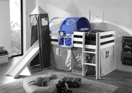 Tunnel DUNKELBLAU / HELLBALU für Spielbett Hochbett Etagenbett +Tasche