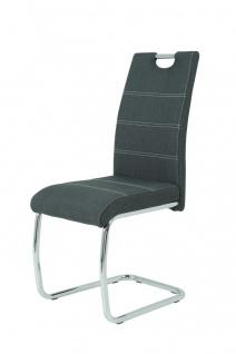 Esszimmerstühle Stühle Freischwinger 4er Set - Gloria- Anthrazit