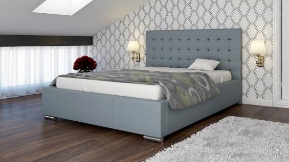 Polsterbett Bett Doppelbett MANILO XL 200x200cm inkl.Bettkasten