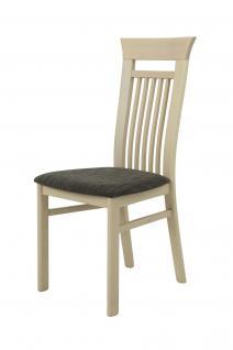 Esszimmerstühle LISSI Stühle 2er Set Massivholz Buche Sonoma