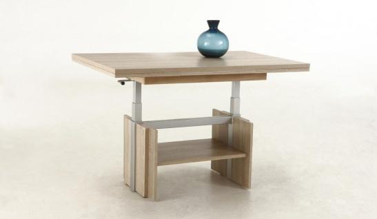 Couchtisch Tisch -Rom- 110- 177 x 68 cm Funktionscouchtisch -Sonoma Eiche - Vorschau 3