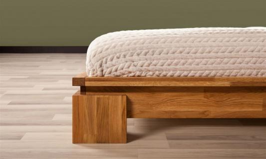 Massivholzbett Bett Schlafzimmerbet MAISON Eiche massiv 80x200 cm - Vorschau 5