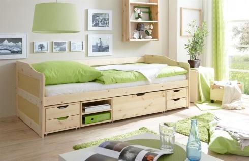 Sofabett mit Schubkästen BELY Kiefer Natur 90x200 cm
