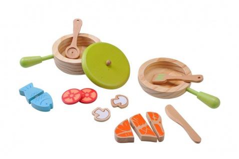 Holzspielzeug - Topf und Pfannenset