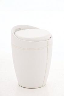 Sitzhocker - Amy - Hocker Sessel Kunstleder Weiss 30x30 cm