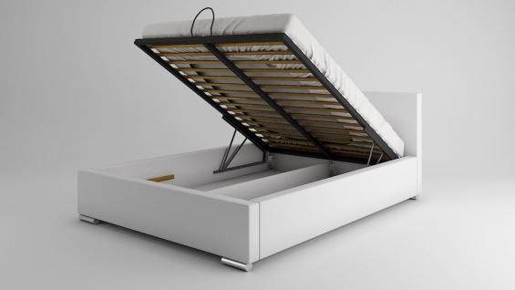 Polsterbett Bett Doppelbett GIORGIO 200x200cm inkl.Bettkasten - Vorschau 2