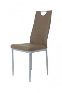 Esszimmerstühle Stuhle Vierfußstuhl 4er Set - Karin - Latte
