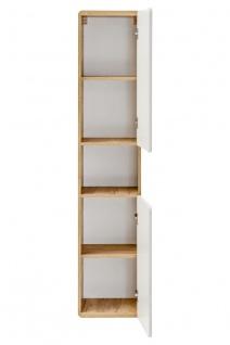 Badmöbel Set 6-tlg Badezimmerset FERMO Weiss HGL inkl. Waschtisch - Vorschau 3
