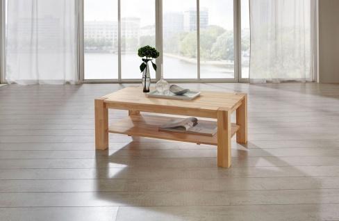 Couchtisch Tisch MORITZ Buche vollmassiv / Echtholz 80 x 80 cm - Vorschau 2