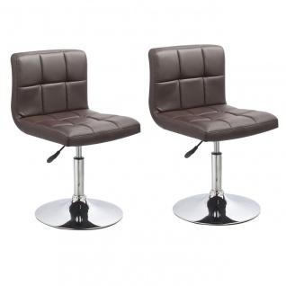 Esszimmerstühle Stuhle Küchenstuhl 2er Set - Bari - Braun