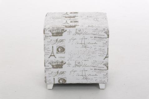 Sitzwürfel Sitzhocker - Paris - Hocker Sessel Bezug : Stoff 40x40 cm - Vorschau 2