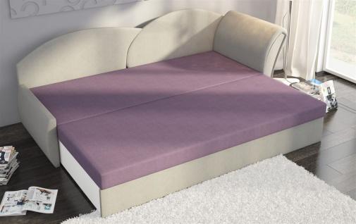 Sofa Schlafsofa inklusive Bettkasten ALINA / L - Gelb / Muster - Vorschau 5