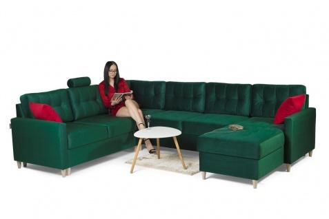 Couchgarnitur mit Schlaffunktion MOLDE Stoff (FUEGO) Grün Otto. Rechts