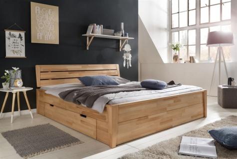 Massivholzbett Schlafzimmerbett RENO Bett Kernubuche massiv 180x200 cm - Vorschau 2