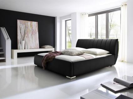 Polsterbett Bett -WIEN-200x200cm inkl. Bettkasten+Lattenroste Schwarz