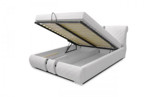 Polsterbett Bett Doppelbett Tagesbett DAKAR 160x200 cm Schwarz - Vorschau 2