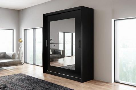 Schiebetürenschrank Schrank DOLM 12 Schwarz matt 180x218 cm