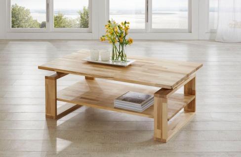 Couchtisch Tisch ALEX Buche vollmassiv / Echtholz 120 x 80 cm