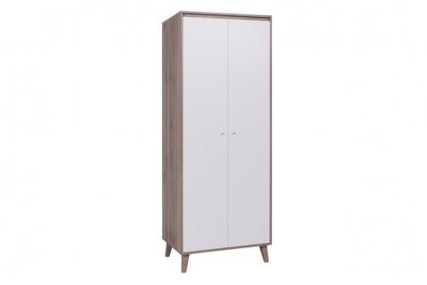 Schrank Mehrzweckschrank KALMAR 80x205 cm Sanremo / Weiß