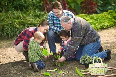 Holzspielzeug - Gartentasche mit Gartengeräten und Giesskanne - Vorschau 4
