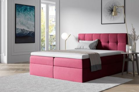Boxspringbett Schlafzimmerbett BURGOS 120x200cm Rot