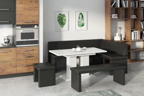Eckbankgruppe CORA XL Links inkl.Esstisch. Sitzbank und Hocker