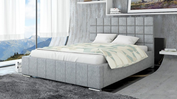 Polsterbett Bett Doppelbett MATTEO L 140x200cm inkl.Lattenrost