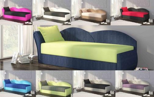 Sofa Schlafsofa inklusive Bettkasten ALINA / L - Gelb / Muster - Vorschau 3