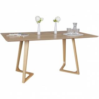 Esszimmertisch Tisch MORTEN MDF Eiche Furnier 160x90 cm Landhausstil