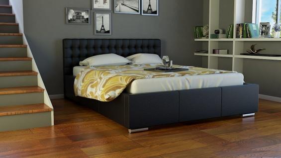 Polsterbett Bett Doppelbett DAMASO 160x200cm inkl.Bettkasten