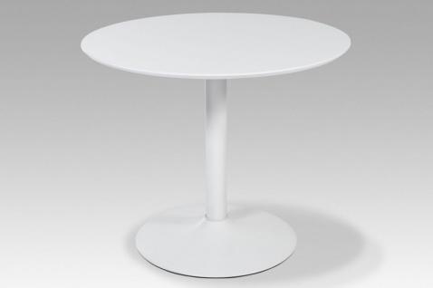 Küchentisch Esstisch Tisch - PORTO 2 - 90x90 cm Hochglanz Weiss