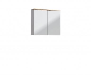 Badmöbel Set 5-tlg Badezimmerset DEVI Weiss HGL inkl.Waschtisch 80 cm - Vorschau 3