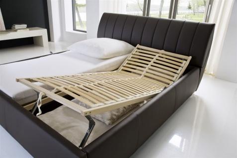 Polsterbett Bett -WIEN - 200x200cm inkl. Bettkasten+Lattenroste Braun - Vorschau 4