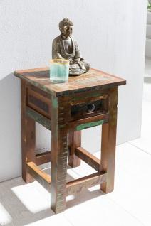 Beistelltisch Nachttisch SURAT 30x30cm Holz Mango Shabby-Chic