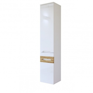 Badezimmer Hängeschrank 170x35x33cm LAXY Weiss Hochglanz