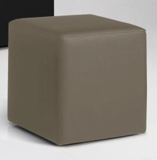 Sitzwürfel Sitzhocker Hocker - KUBUS - Kunstleder Muddy 40x40x45 cm - Vorschau 3