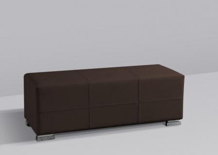 Sitzbank Polsterbank - KARIN - Kunstleder Braun 120x45 cm