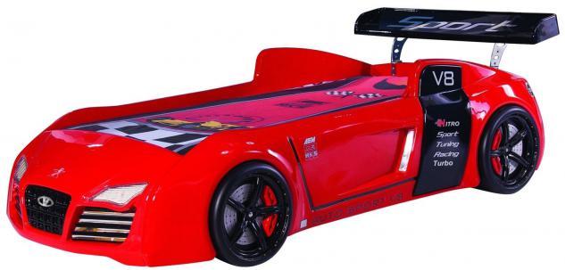 Autobett Kinderbett Bett - Turbo / Standart - Rot inkl. Beleuchtung