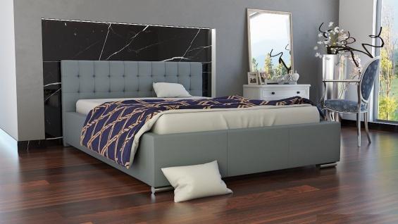 Polsterbett Bett Doppelbett MANILO 200x200cm inkl.Bettkasten