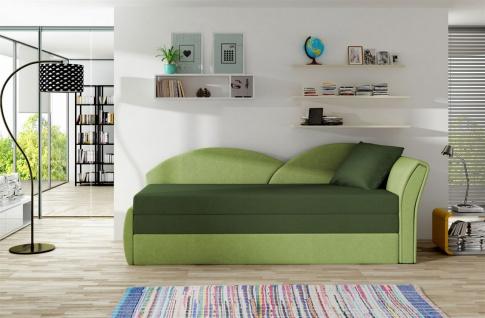 Sofa Schlafsofa inklusive Bettkasten ALINA / R- Limette / Grün