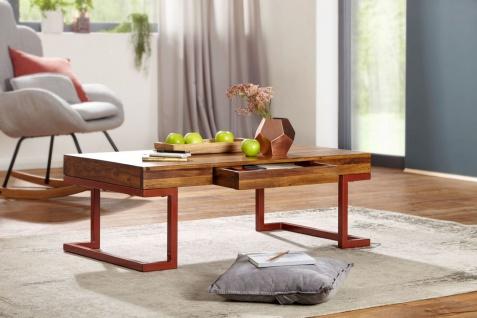 Couchtisch Massivholztisch MADAN 115x60x40 cm Holz Sheesham Industrial