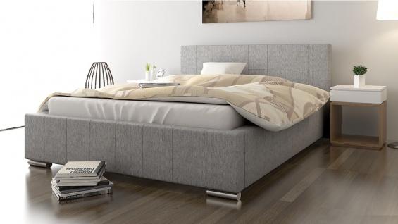 Polsterbett Bett Doppelbett GIORGIO XS 140x200cm inkl.Lattenrost