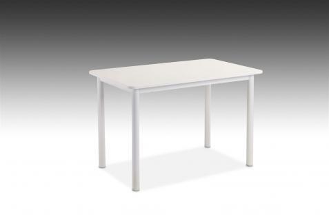Esstisch Tisch ELLEN 110x70 cm in Dekor Hochglanz Weiss