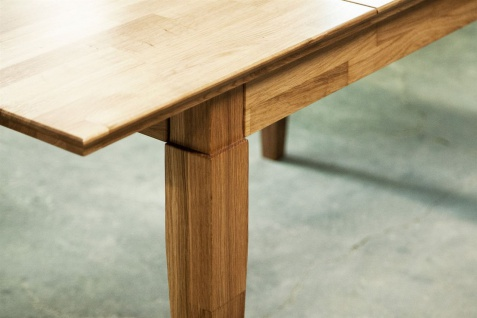 Esstisch Tisch ausziehbar LENNES Kernbuche geölt Natur 120/165x100 cm - Vorschau 4