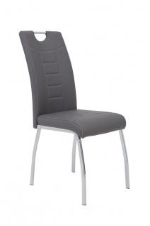 Esszimmerstühle Stühle Vierfußstuhl 2er Set ALIDA Grau