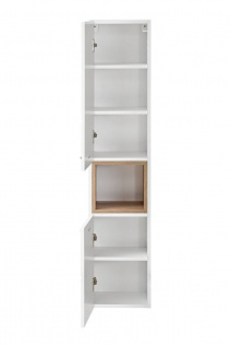 Badmöbel Set 3-tlg Badezimmerset VENTO-ECK Weiss inkl.Waschtisch 40cm - Vorschau 2