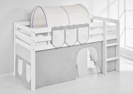 Tunnel Lila Beige - für Hochbett. Spielbett und Etagenbett