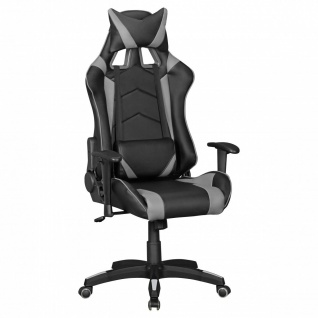 Drehstuhl Bürostuhl Chefsessel GAMING 1- Schwarz / Grau