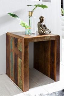 Beistelltisch Nachttisch SURAT 45x40cm Holz Mango Shabby-Chic