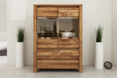 Highboard Kommode MAISON Wildeiche massiv geölt 80x112x45 cm